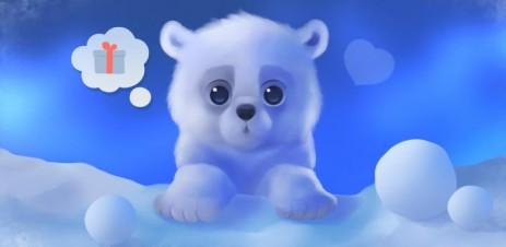 Polar Chub - белый медвежонок в вашем телефоне  - thumbnail
