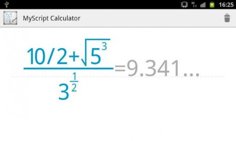 MyScript Calculator - калькулятор который решает уравнения и формулы | Android