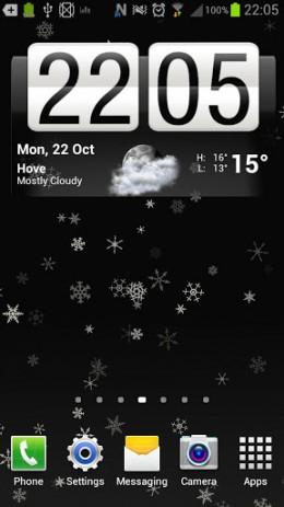 Скриншот Снежинка живые обои 1