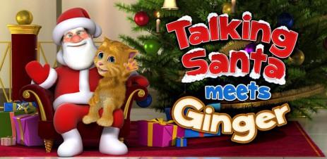 Talking Santa meets Ginger - говорящий Санта - thumbnail