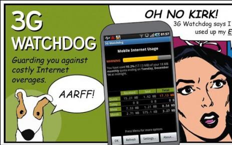 """Poster <span lang=""""ru"""">3G Watchdog - Data Usage</span>"""